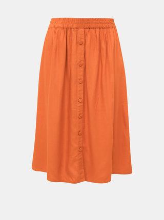 Oranžová sukně VILA Monnie