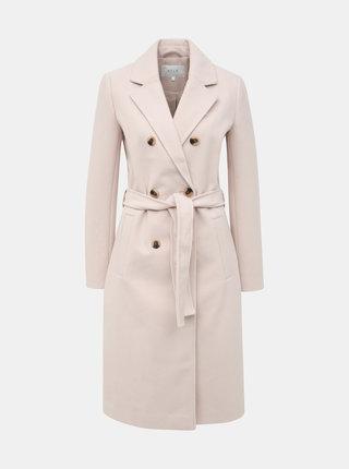 Světle růžový kabát VILA Blair