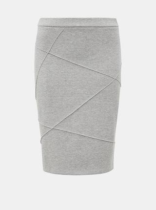 Světle šedá pouzdrová sukně VILA Sif