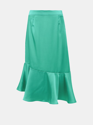 Zelená midi sukňa VILA Shawa