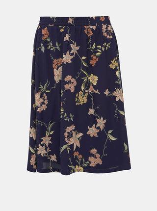 Tmavě modrá květovaná sukně Jacqueline de Yong Jade