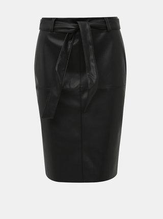 Černá koženková sukně Jacqueline de Yong Opel