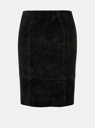 Černá semišová pouzdrová sukně VILA Faith