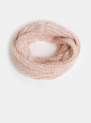 Růžová dámská dutá šála Haily´s Sally