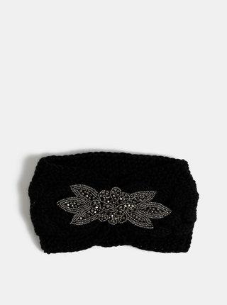 Černá čelenka s ozdobou ve stříbrné barvě Haily´s Cally
