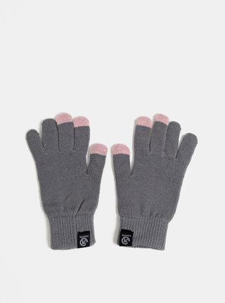 Šedé dámské rukavice Meatfly Boyd