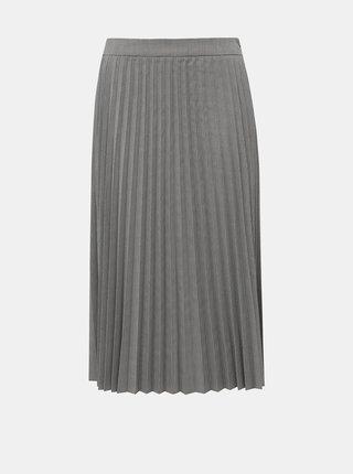 Šedá vzorovaná plisovaná sukně VERO MODA Eleanor
