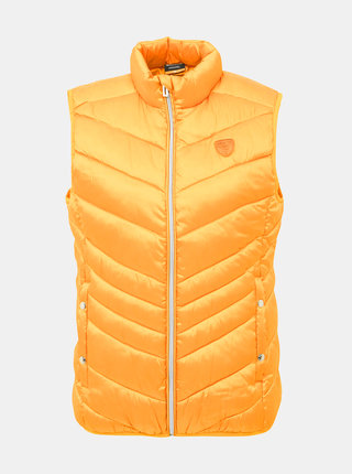 Hořčicová dámská prošívaná vesta SAM 73
