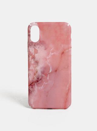 Růžový vzorovaný obal na iPhone X/XS VERO MODA Desk