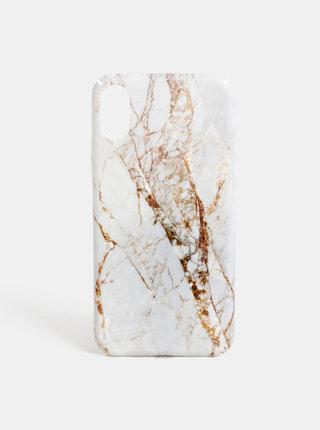 Bílý vzorovaný obal na iPhone X/XS VERO MODA Desk