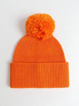 Oranžová čapica Pieces Ilma