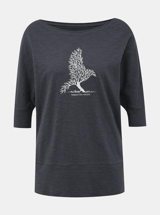 Tmavě šedé dámské tričko BUSHMAN Floridana
