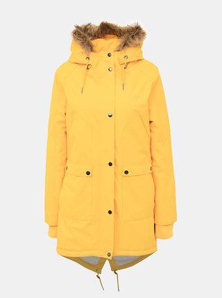 Žlutá dámská funkční zimní parka Meatfly Amber