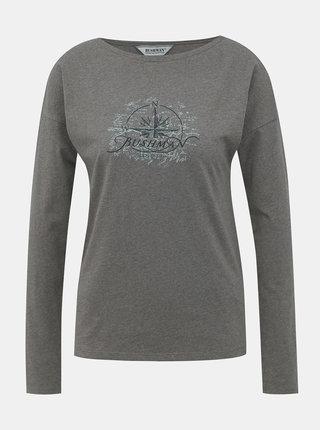 Tmavě šedé dámské tričko BUSHMAN Calistoga