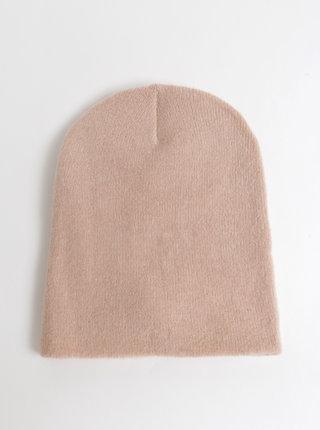Svetloružová čapica s prímesou vlny Pieces Kimmie