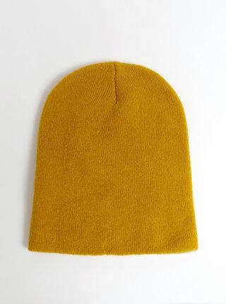 Horčicová čapica s prímesou vlny Pieces Kimmie