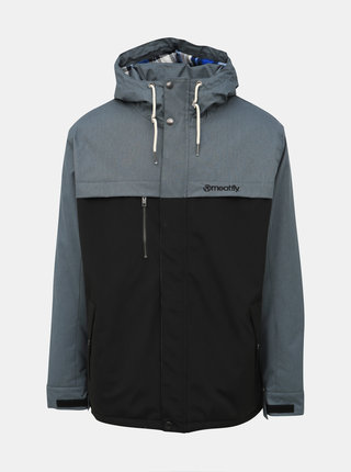 Šedo-čierna pánska funkčná zimná bunda Meatfly Dandy