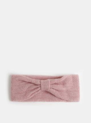 Rúžová vlnená čelenka Pieces Josefine