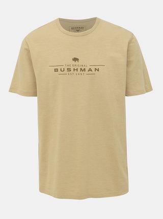 Béžové pánské tričko BUSHMAN Pique
