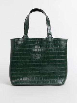 Tmavozelená kabelka s krokodýlím vzorom Pieces Jesse