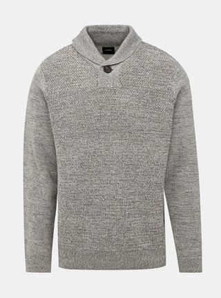 Šedý svetr s příměsí vlny Burton Menswear London