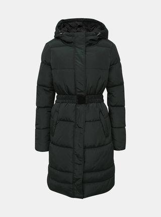 Tmavě zelený prošívaný zimní kabát ONLY Tomine