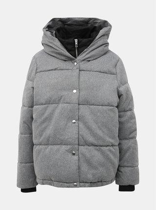 Šedá prošívaná zimní bunda ONLY Vikki
