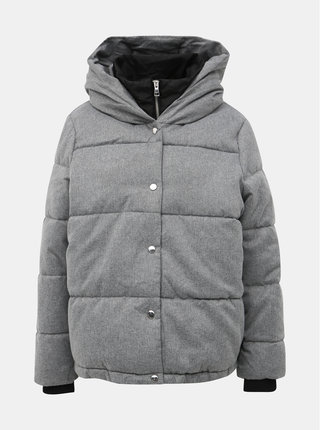 Šedá prešívaná zimná bunda ONLY Vikki