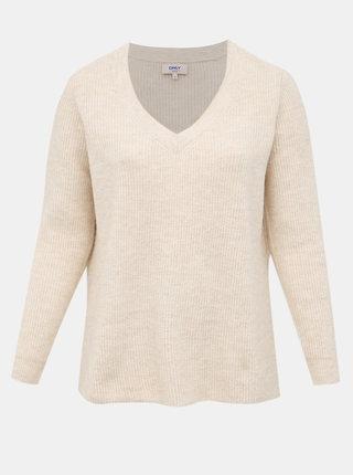 Béžový sveter ONLY CARMAKOMA Shennie