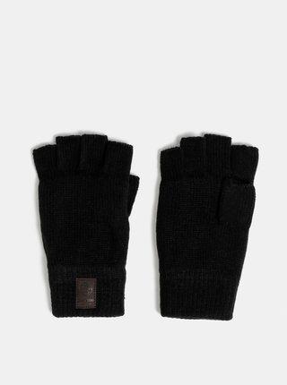Černé bezprstové rukavice s fleecovou vnitřní částí ONLY & SONS Clas