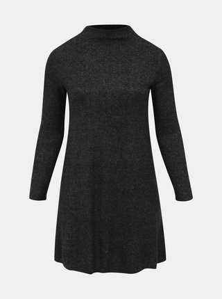 Tmavě šedé svetrové šaty ONLY CARMAKOMA India