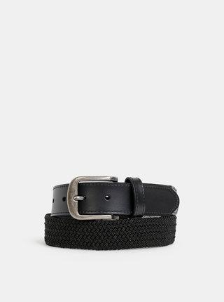 Černý kožený pásek ONLY & SONS Cas