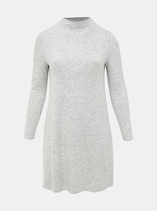 Světle šedé svetrové šaty ONLY CARMAKOMA India