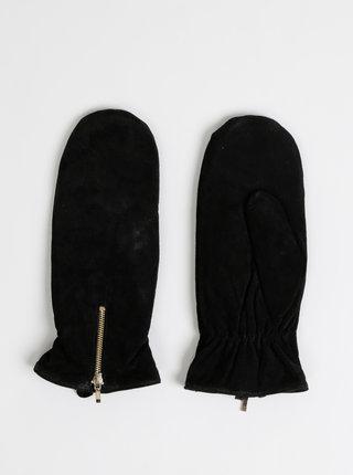 Čierne kožené palčáky ONLY Mille