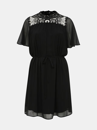 Černé šaty s krajkou ONLY CARMAKOMA Catty