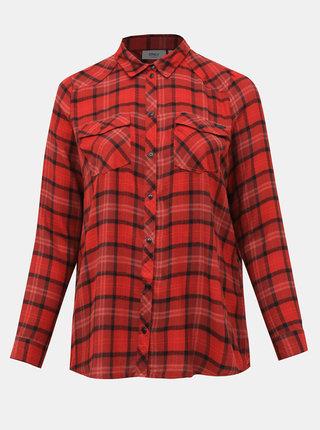 Červená kockovaná košeľa ONLY CARMAKOMA River