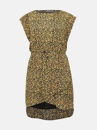 Žluté vzorované šaty ONLY CARMAKOMA Grapy
