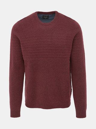 Vínový vlnený sveter ONLY & SONS Howard