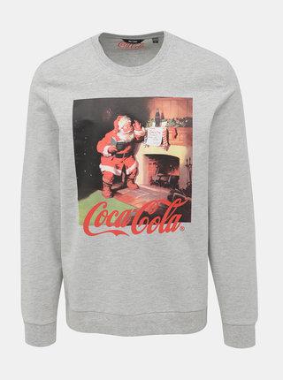 Šedá mikina s vánočním motivem ONLY & SONS Coca Cola