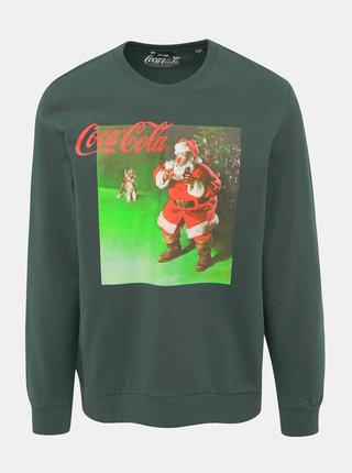 Zelená mikina s vánočním motivem ONLY & SONS Coca Cola