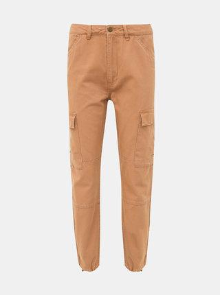 Světle hnědé kalhoty s kapsami ONLY Kombat
