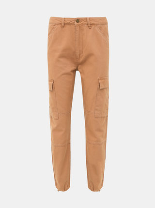Svetlohnedé nohavice s vreckami ONLY Kombat