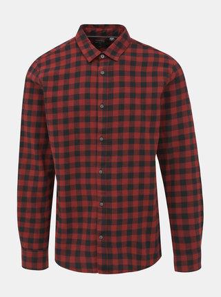 Červená kockovaná košeľa ONLY & SONS Gudmund