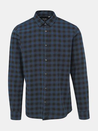 Modrá kostkovaná košile ONLY & SONS Gudmund