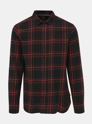 Červeno-černá kostkovaná košile ONLY & SONS Othan