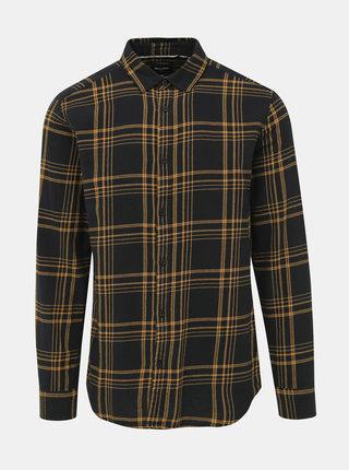 Žluto-černá kostkovaná košile ONLY & SONS Othan