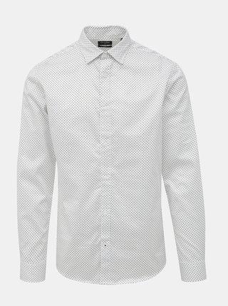Bílá vzorovaná slim fit košile ONLY & SONS Alves
