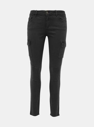 Tmavě šedé skinny fit kalhoty s kapsami ONLY Cece-Bibi