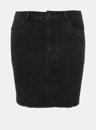 Čierna rifľová sukňa ONLY Sky Leo