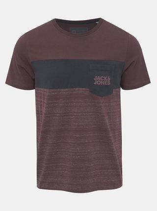 Fialové tričko s potiskem Jack & Jones Scoop